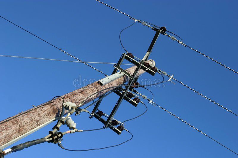 dystrybucji energii elektrycznej fotografia stock