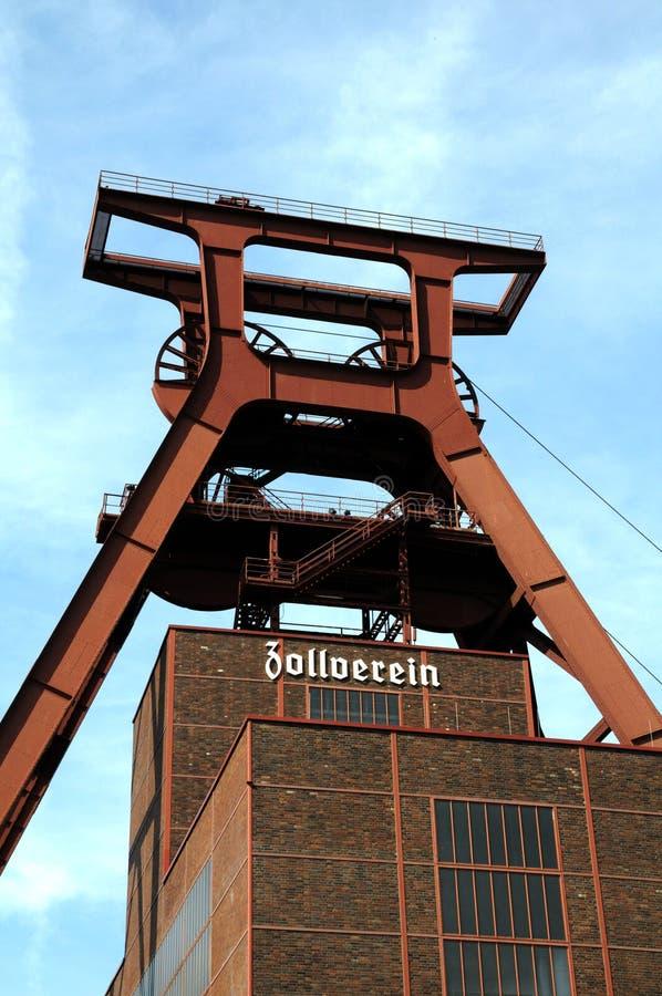 Dyszel XII Zollverein kopalnia węgla obrazy royalty free