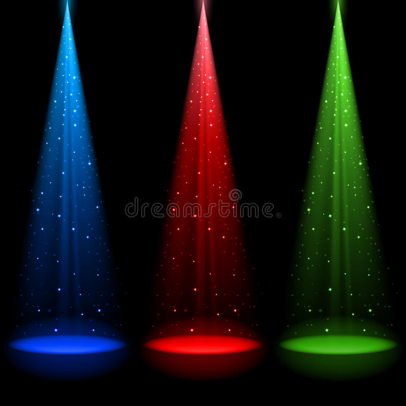 dyszle światła rgb dyszle trzy royalty ilustracja