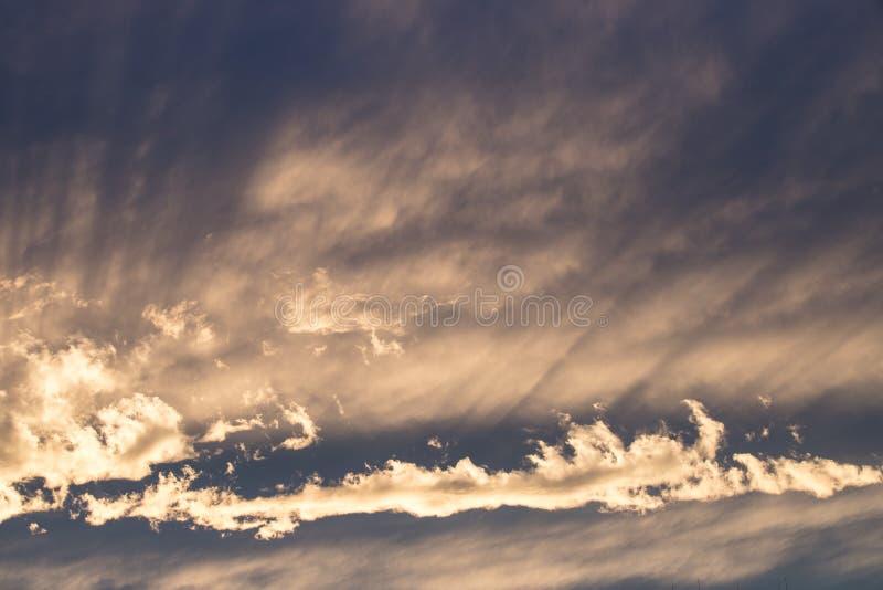 Dyszle światło słoneczne, wieczór, zmierzch zdjęcia stock
