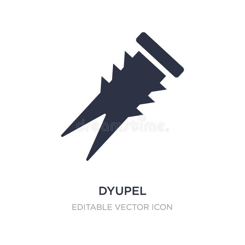 dyupel pictogram op witte achtergrond Eenvoudige elementenillustratie van Algemeen concept vector illustratie