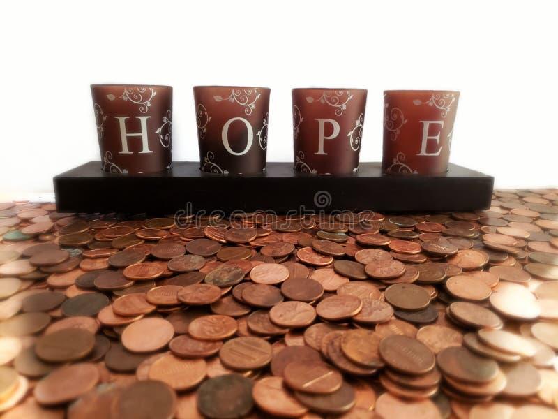 Dywan monety i nadzieja wpisowa « Akumulacja pieniądze Nadziei pojęcie, oszczędzania pojęcie zdjęcia stock