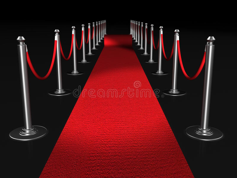 dywanowa conept noc czerwień ilustracji