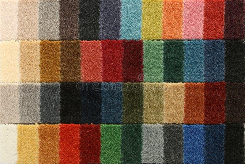 dywanowe koloru nakrycia próbki zdjęcie royalty free