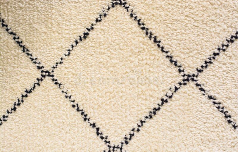 Dywanowej białych kwadratów miękkiej dywanowej tekstury podłogi ściany lata czarny i biały wzór obrazy royalty free