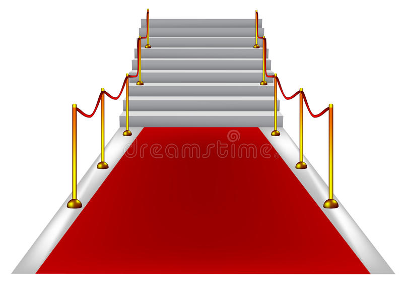 dywanowi czerwoni schodki zdjęcie stock