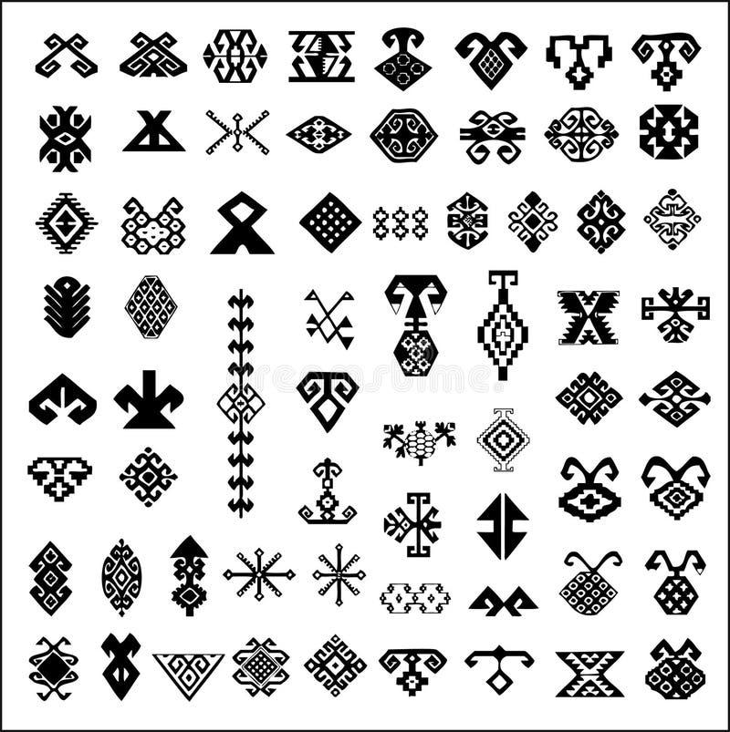 dywanowi elementy projektów royalty ilustracja