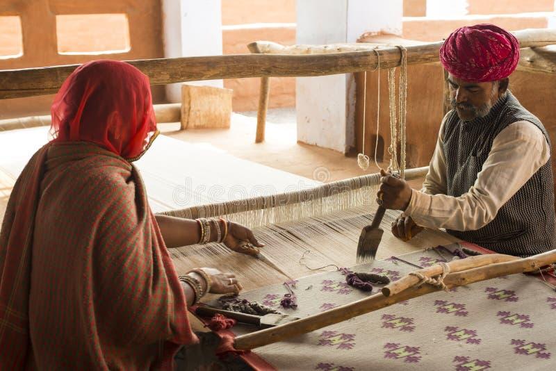 Dywanowi tkacze zdjęcie stock
