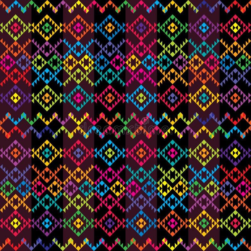 dywanu etniczny barwiony ilustracja wektor