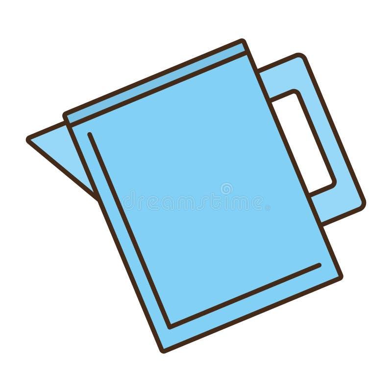 Dzbanek błękitne wody soku projekt ilustracja wektor