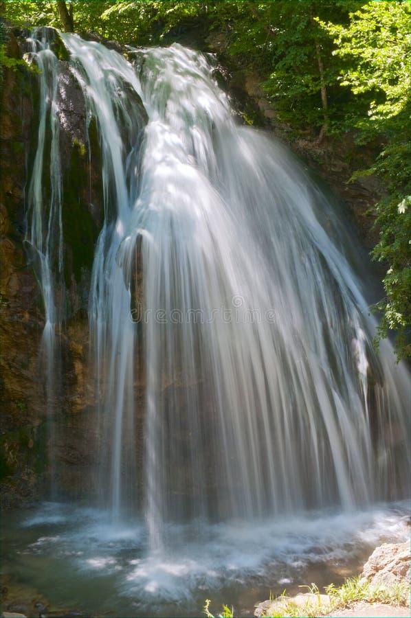 Dzhur-Dzhur de grootste waterval van de Krim stock afbeeldingen