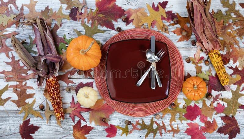 Dziękczynienia położenia Tradycyjny Obiadowy tło zdjęcie royalty free