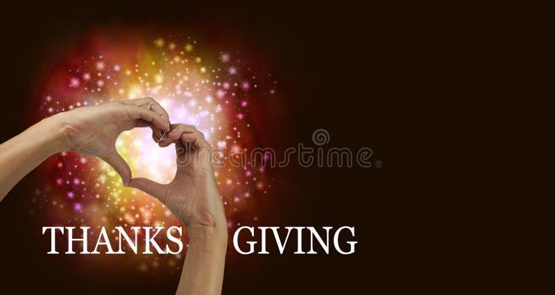 Dziękczynienia serca ręki zdjęcia royalty free