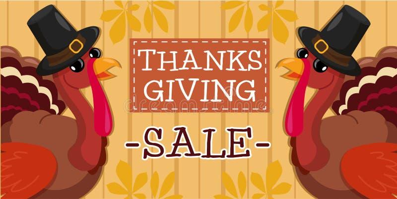 Dziękczynienie dnia sprzedaży sztandar zdjęcie royalty free