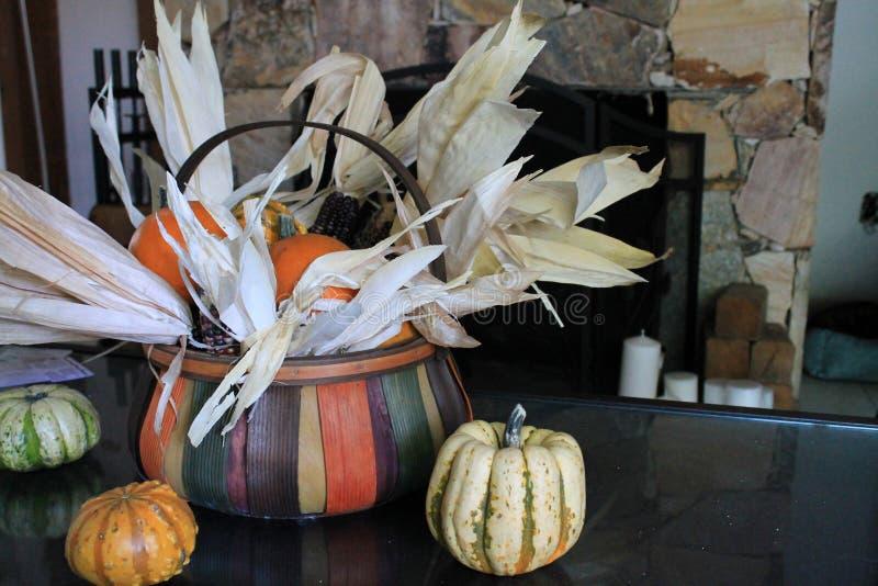Dziękczynienie domu stołu ornamentacja zdjęcie stock