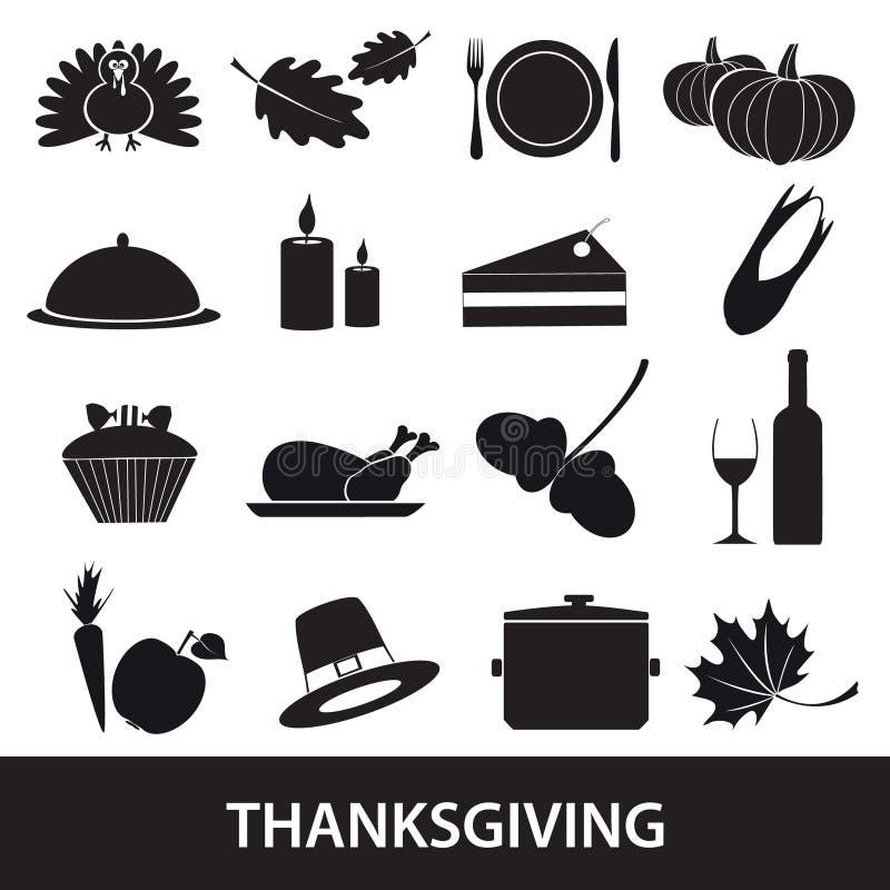 Dziękczynienie ikony ustawiają eps10 ilustracja wektor
