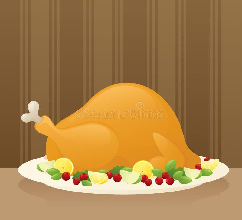 Dziękczynienie posiłek ilustracja wektor