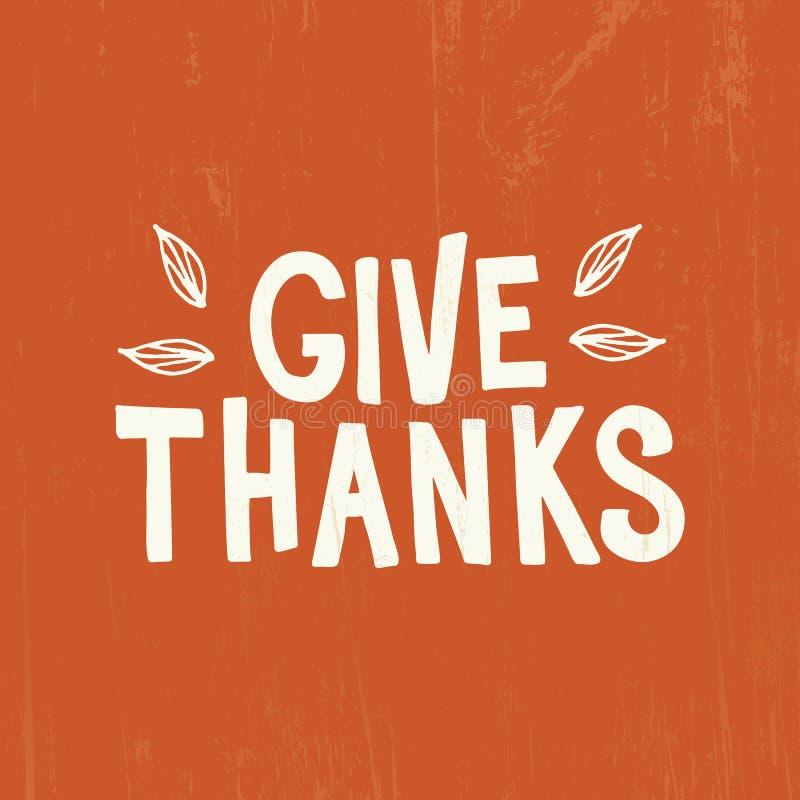 Dziękczynienie - ręka rysująca piszący list typografię royalty ilustracja