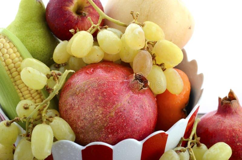 Dziękczynienie spadku żniwa owoc i warzywo zdjęcie stock