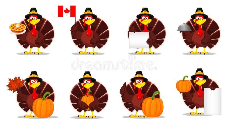 Dziękczynienie Turcja szczęśliwy dzień dziękczynienie royalty ilustracja