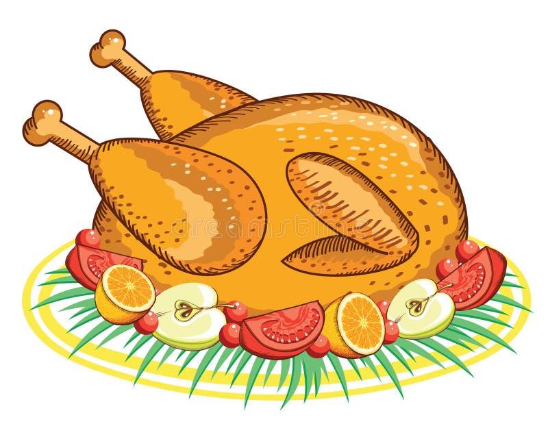 Dziękczynienie Turcja. Wektorowy jedzenie odizolowywający na bielu ilustracja wektor