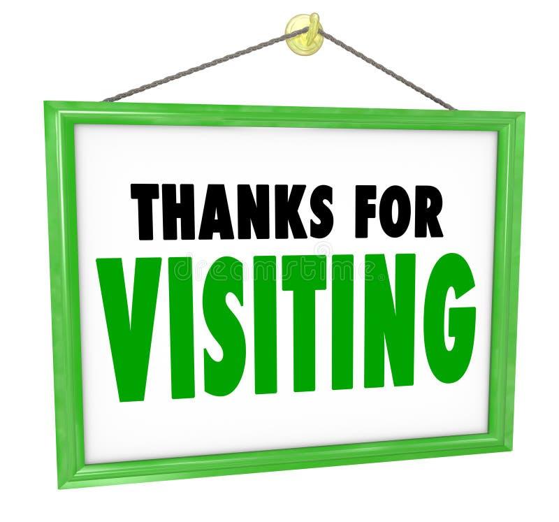 Dzięki dla Odwiedzać Wiszącego sklepu znaka klienta docenienie ilustracji