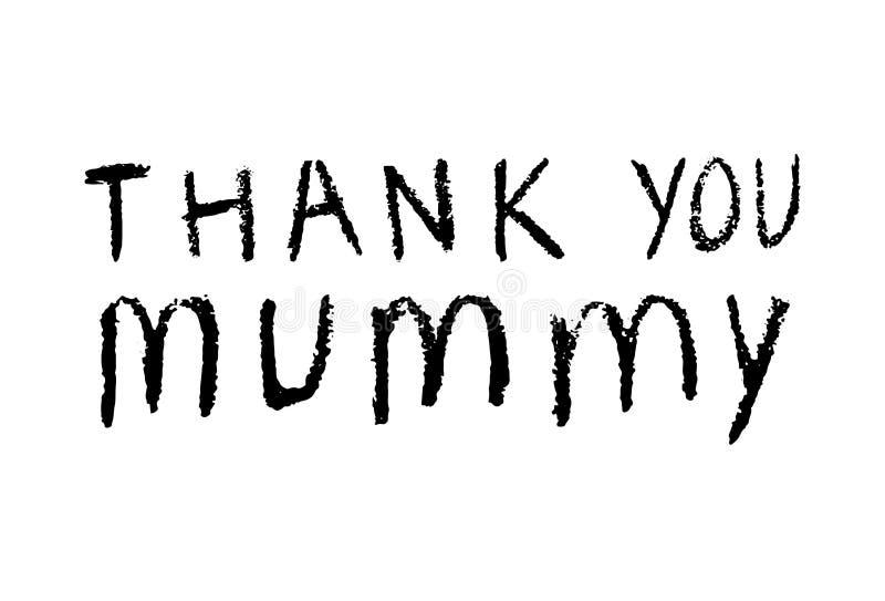 Dziękuje ciebie dla macierzystego dnia mamuś inskrypcje ilustracja wektor