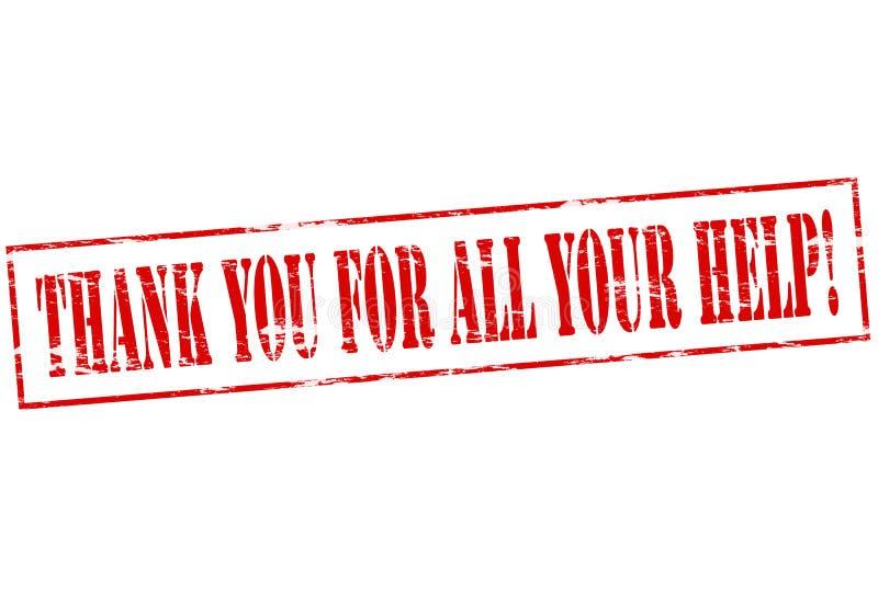 Dziękuje ciebie dla wszystkie twój pomocy royalty ilustracja