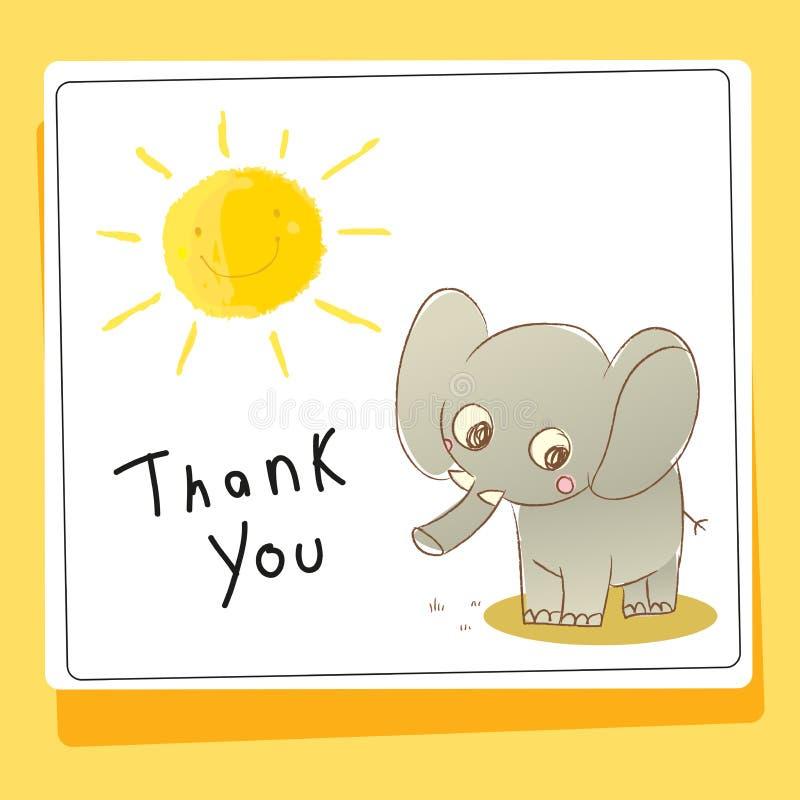 Dziękuje ciebie kochać zwierzę kartę i pomagać ilustracji