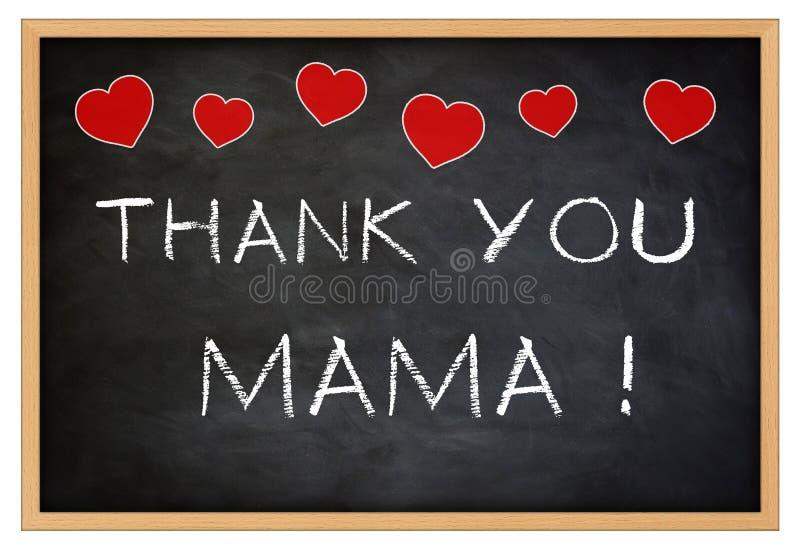 Dziękuje ciebie Mama royalty ilustracja