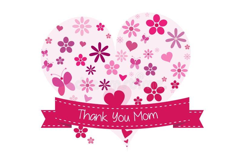 Dziękuje ciebie matka dnia karta royalty ilustracja
