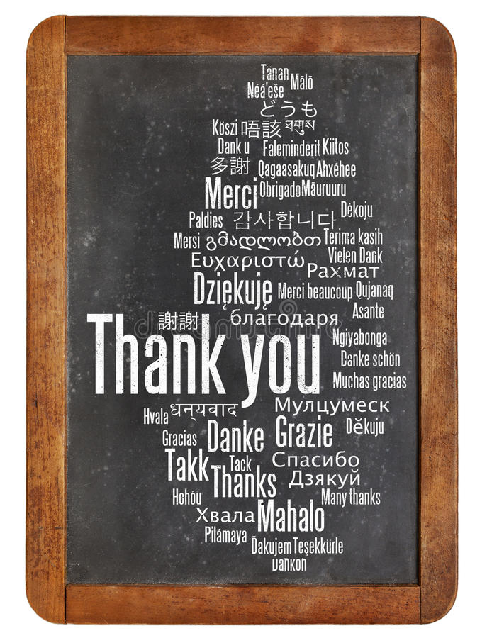 Dziękuje ciebie na blackboard obraz royalty free