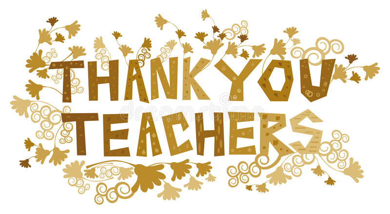 Dziękuje Ciebie nauczyciele royalty ilustracja