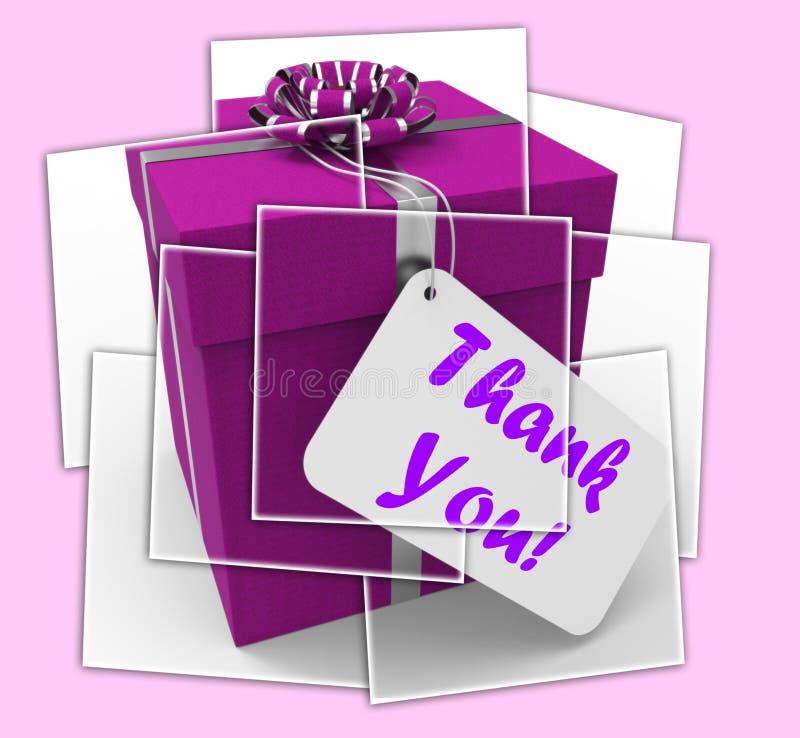 Dziękuje Ciebie prezentów pokazy Wdzięczni I Doceniający royalty ilustracja