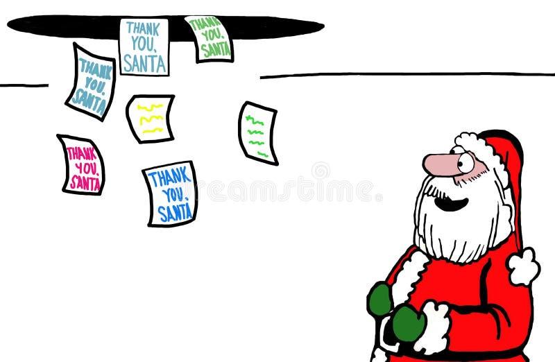Dziękuje Ciebie, Santa royalty ilustracja