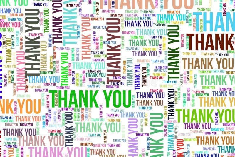 Dziękuje Ciebie, teksturę lub tło, dla motywaci lub ośmielenia royalty ilustracja