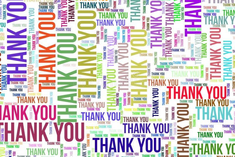 Dziękuje Ciebie, teksturę lub tło, dla motywaci lub ośmielenia ilustracja wektor