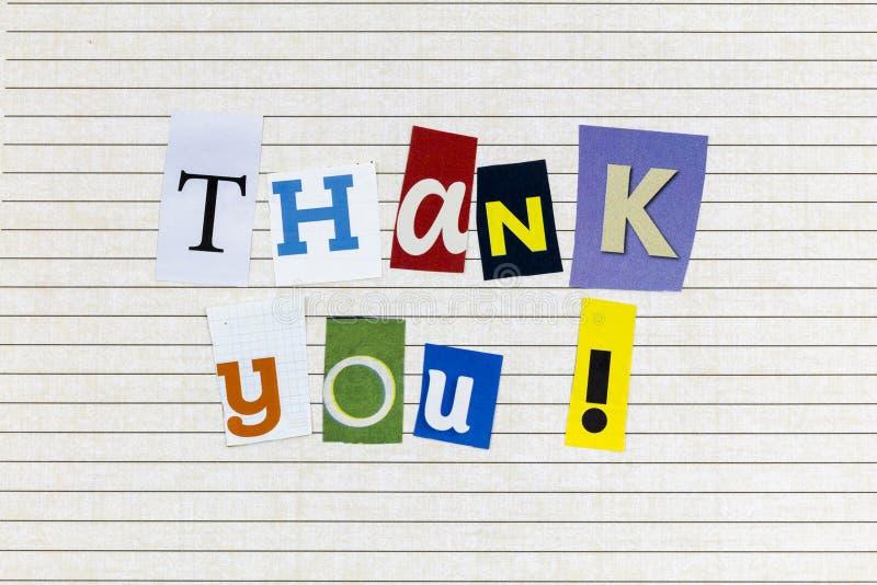 Dziękujemy za docenienie pomocy wolontariuszy zdjęcie stock