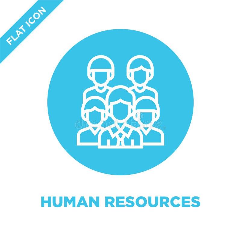 dział zasobów ludzkich ikony wektor Cienka kreskowa dział zasobów ludzkich konturu ikony wektoru ilustracja dział zasobów ludzkic ilustracja wektor