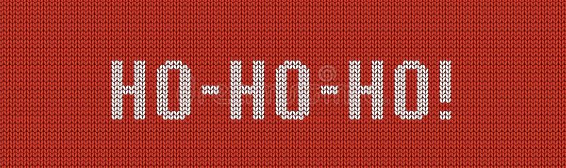 Dziać HO-HO-HO sztandar Nowego Roku `s t?o ?wi?ty Miko?aj, ho, ho, ho ?wi?ta deseniuj? bezszwowego royalty ilustracja