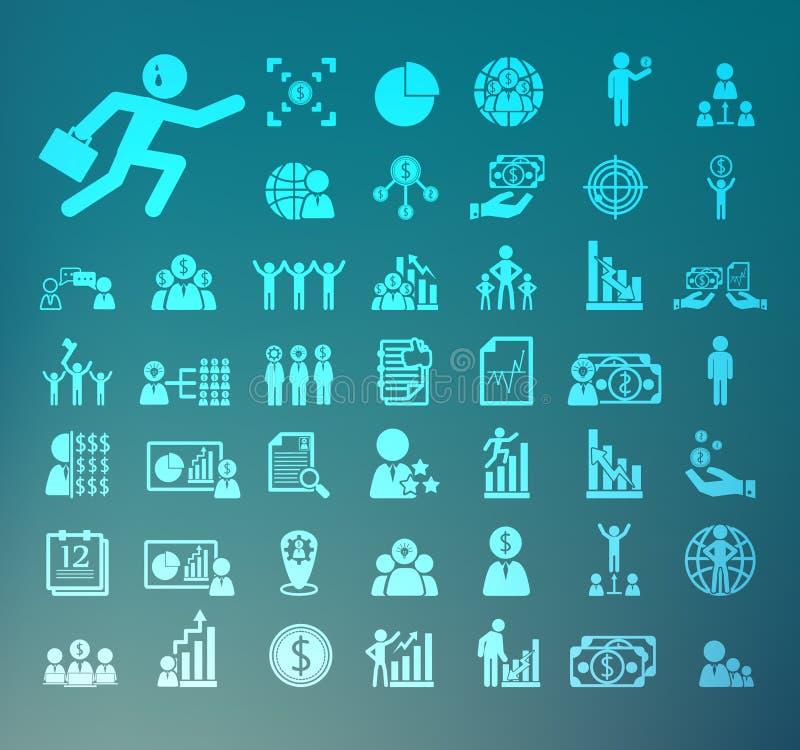 Dział zasobów ludzkich ikon siatkówka ilustracji