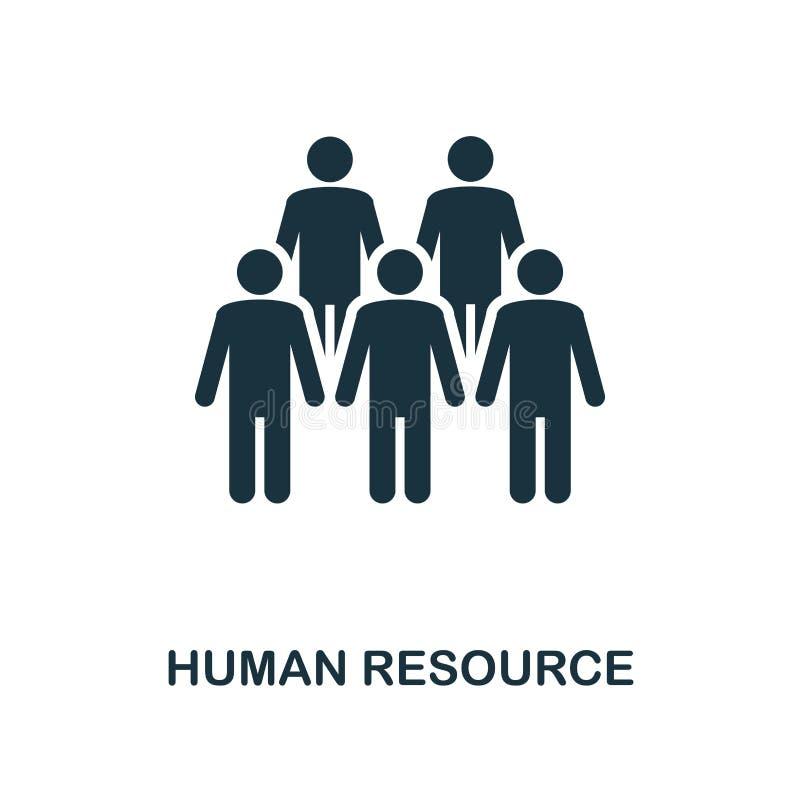 Dział zasobów ludzkich ikona Monochrom ikony stylowy projekt od zarządzanie projektem ikony kolekcji Ui Ilustracja dział zasobów  ilustracji
