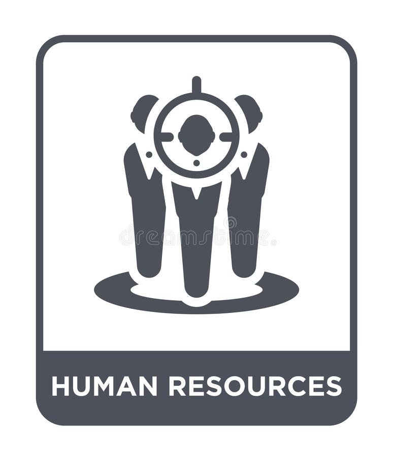 dział zasobów ludzkich ikona w modnym projekta stylu Dział zasobów ludzkich ikona odizolowywająca na białym tle dział zasobów lud ilustracji