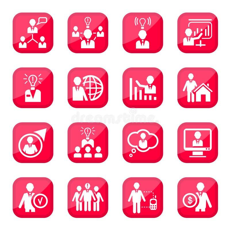 Dział zasobów ludzkich ikony ilustracja wektor