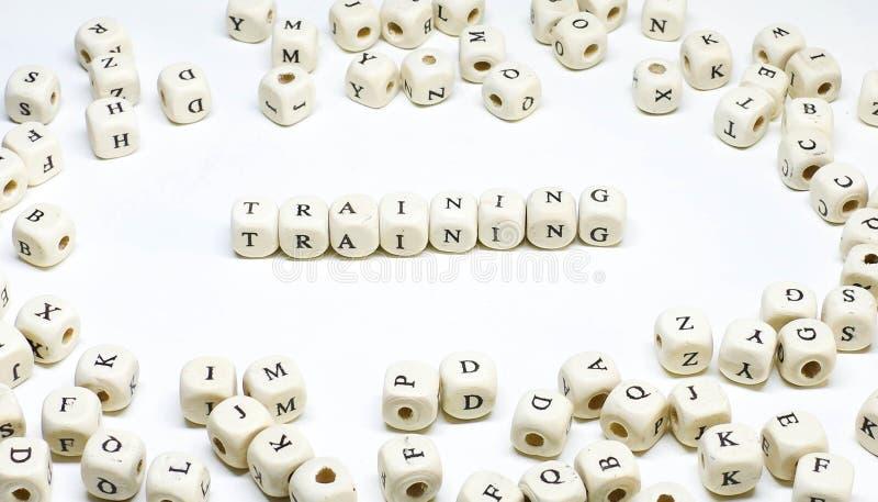 Dział zasobów ludzkich zarządzania terminu abc drewniany szkolenie fotografia stock