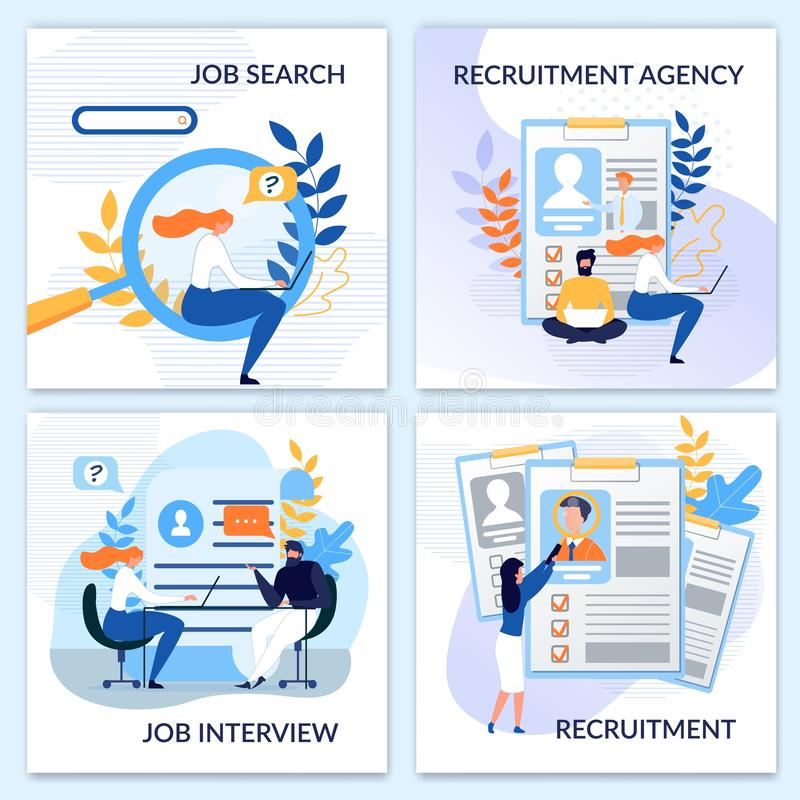 Dział Zasobów Ludzkich, Zatrudnia, rekrutacji karty Ustawiać ilustracji