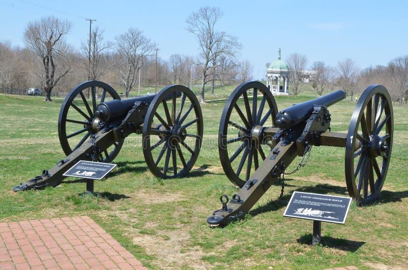 Działa - Antietam Krajowy Batalistyczny pole Maryland zdjęcie stock