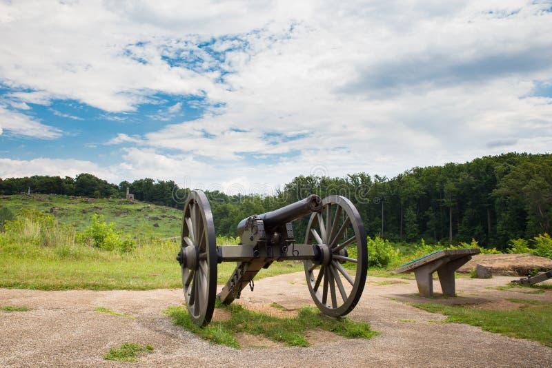 Działa Gettysburg wojskowy Parkuje zdjęcie royalty free
