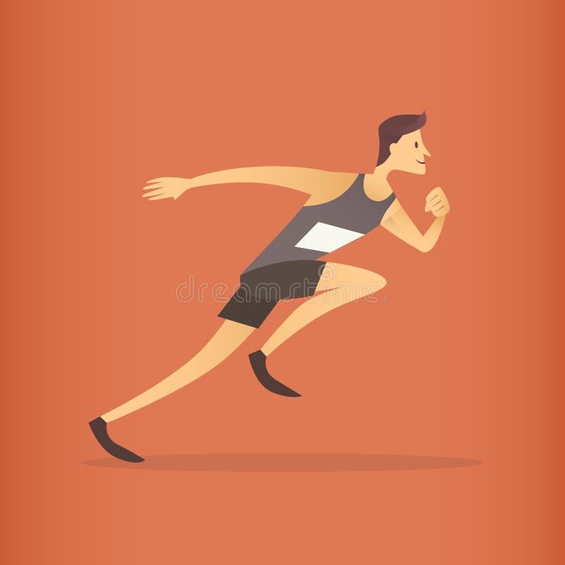 Działająca atleta szybkobiegacza sporta rywalizacja ilustracji