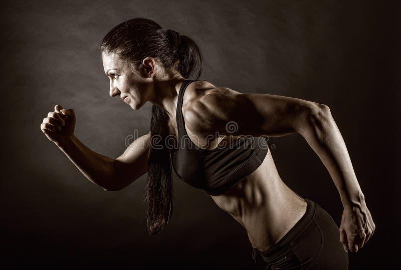 działająca kobieta zdjęcia stock